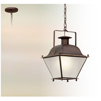 Wellesley LED 10 inch Natural Rust Hanging Lantern Ceiling Light