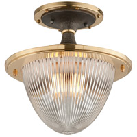 Fly Boy 1 Light 13 inch Bronze with Brass Semi-Flush Ceiling Light
