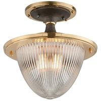 Troy Lighting C4700 Fly Boy 1 Light 13 inch Bronze with Brass Semi-Flush Ceiling Light
