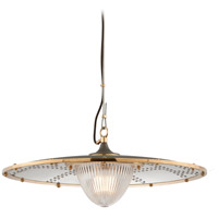 Troy Lighting F4706 Fly Boy 1 Light 26 inch Bronze with Brass Pendant Ceiling Light photo thumbnail