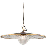 Troy Lighting F4707 Fly Boy 1 Light 32 inch Bronze with Brass Pendant Ceiling Light