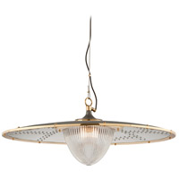 Troy Lighting F4708 Fly Boy 1 Light 40 inch Bronze with Brass Pendant Ceiling Light