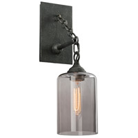 Troy Lighting Gotham 1 Light Wall Sconce in Aged Silver B4421