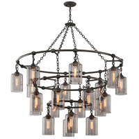 Gotham 20 Light 52 inch Aged Silver Pendant Ceiling Light