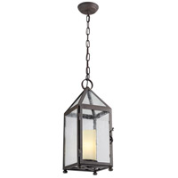 Troy Lighting Hidden Hills 1 Light Outdoor Hanging Lantern in Centennial Rust F4477