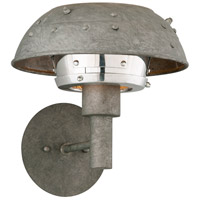 Troy Lighting Idlewild LED Wall Sconce in Aviation Gray and Vintage Aliminum B4731