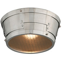 Troy Lighting Idlewild LED Flush Mount in Aviation Gray and Vintage Aliminum C4730