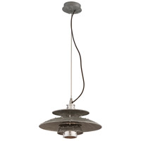 Troy Lighting Idlewild LED Pendant in Aviation Gray and Vintage Aliminum F4733