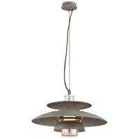 Troy Lighting Idlewild LED Pendant in Aviation Gray and Vintage Aliminum F4734