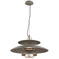 Troy Lighting Idlewild LED Pendant in Aviation Gray and Vintage Aliminum F4735