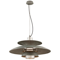 Troy Lighting Idlewild LED Pendant in Aviation Gray and Vintage Aliminum F4736