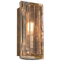 Joplin 1 Light 13 inch Historic Brass Outdoor Wall Sconce in Incandescent