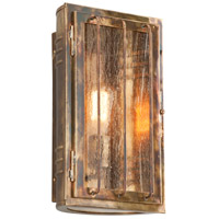 Joplin 1 Light 14 inch Historic Brass Outdoor Wall Sconce in Incandescent
