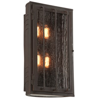Joplin 4 Light 17 inch Bronze Outdoor Wall Sconce in Incandescent