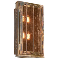 Joplin 4 Light 17 inch Historic Brass Outdoor Wall Sconce in Incandescent