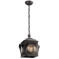 Main Street 2 Light 11 inch Aged Pewter Outdoor Hanging Lantern in Incandescent