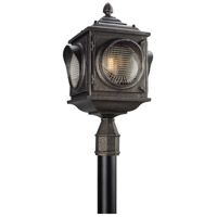 Main Street 3 Light 24 inch Aged Pewter Post Lantern in Incandescent