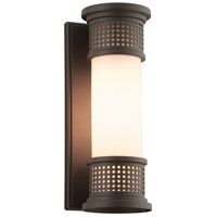 Troy Lighting B4671 Mcqueen 1 Light 13 inch Bronze Outdoor Wall Sconce in Incandescent