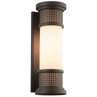 Troy Lighting B4672 Mcqueen 1 Light 16 inch Bronze Outdoor Wall Sconce in Incandescent