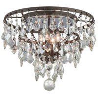 Meritage 4 Light 20 inch Graphite Semi-Flush Ceiling Light