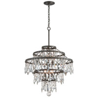 Troy Lighting Meritage 6 Light Pendant in Graphite F4317