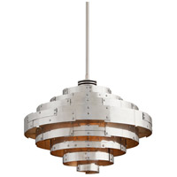 Troy Lighting F4724 Mitchel Field LED 26 inch Parisian Silver Pendant Ceiling Light