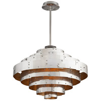 Troy Lighting F4725 Mitchel Field LED 32 inch Parisian Silver Pendant Ceiling Light