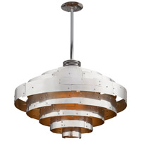 Troy Lighting F4726 Mitchel Field LED 40 inch Parisian Silver Pendant Ceiling Light