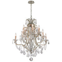 Montparnasse 10 Light 35 inch Silver Leaf Chandelier Ceiling Light