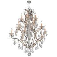 Troy Lighting Montparnasse 15 Light Chandelier in Silver Leaf F4577