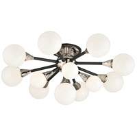 Troy Lighting Nebula 13 Light Semi-Flush in Carbide Black and Polished Nickel C4280