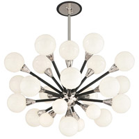 Nebula 25 Light 36 inch Carbide Black and Polished Nickel Pendant Ceiling Light