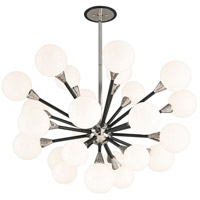 Nebula 25 Light 41 inch Carbide Black and Polished Nickel Pendant Ceiling Light