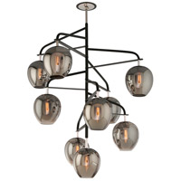 Troy Lighting Odyssey 9 Light Entry Pendant in Carbide Black and Polished Nickel F4298