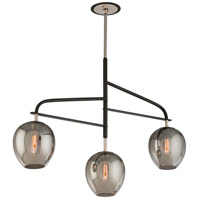 Troy Lighting F4299 Odyssey 3 Light 44 inch Carbide Black and Polished Nickel Island Pendant Ceiling Light
