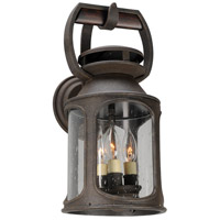 Troy Lighting Old Trail 3 Light Outdoor Wall Sconce in Centennial Rust B4512
