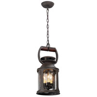 Old Trail 3 Light 8 inch Outdoor Hanging Lantern in Incandescent