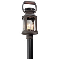 Old Trail 3 Light 20 inch Post Lantern in Incandescent