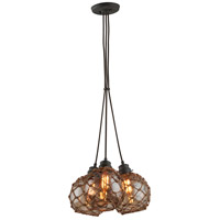 Troy Lighting F4754 Outer Banks 3 Light 17 inch Shipyard Bronze Pendant Ceiling Light