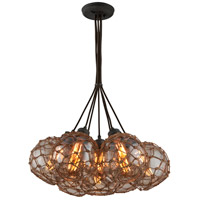 Troy Lighting Outter Banks 7 Light Pendant in Shipyard Bronze F4755