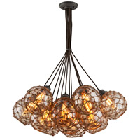 Troy Lighting F4756 Outer Banks 13 Light 35 inch Shipyard Bronze Pendant Ceiling Light