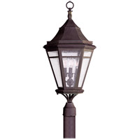Morgan Hill 3 Light 28 inch Natural Rust Post Lantern