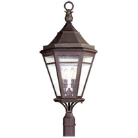 Morgan Hill 4 Light 33 inch Natural Rust Post Lantern