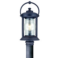 Troy Lighting Station Square 1 Light Post Lantern in Natural Rust P1414NR
