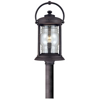 Troy Lighting Station Square 1 Light Post Lantern in Natural Rust P1415NR