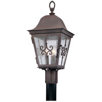 Troy Lighting P2355WB Markham 3 Light 23 inch Weathered Bronze Post