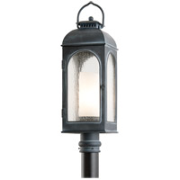 Derby 1 Light 26 inch Antique Iron Post in Incandescent