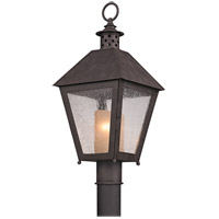 Troy Lighting Sagamore 1 Light Post in Centennial Rust P3295