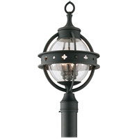 Troy Lighting Mendocino 3 Light Outdoor Post Lantern in Forged Black P3684