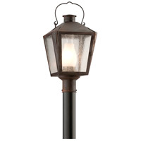 Nantucket 1 Light 21 inch Natural Rust Outdoor Post Lantern in Fluorescent